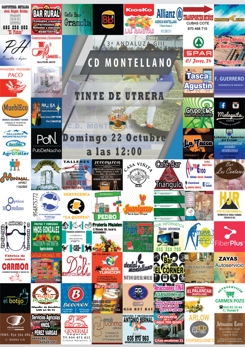 Cartel CD Montellano - CD Tinte
