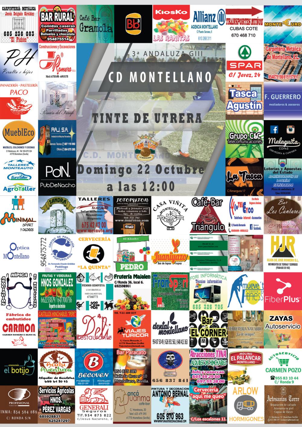 Cartel CD Montellano - CD Tinte