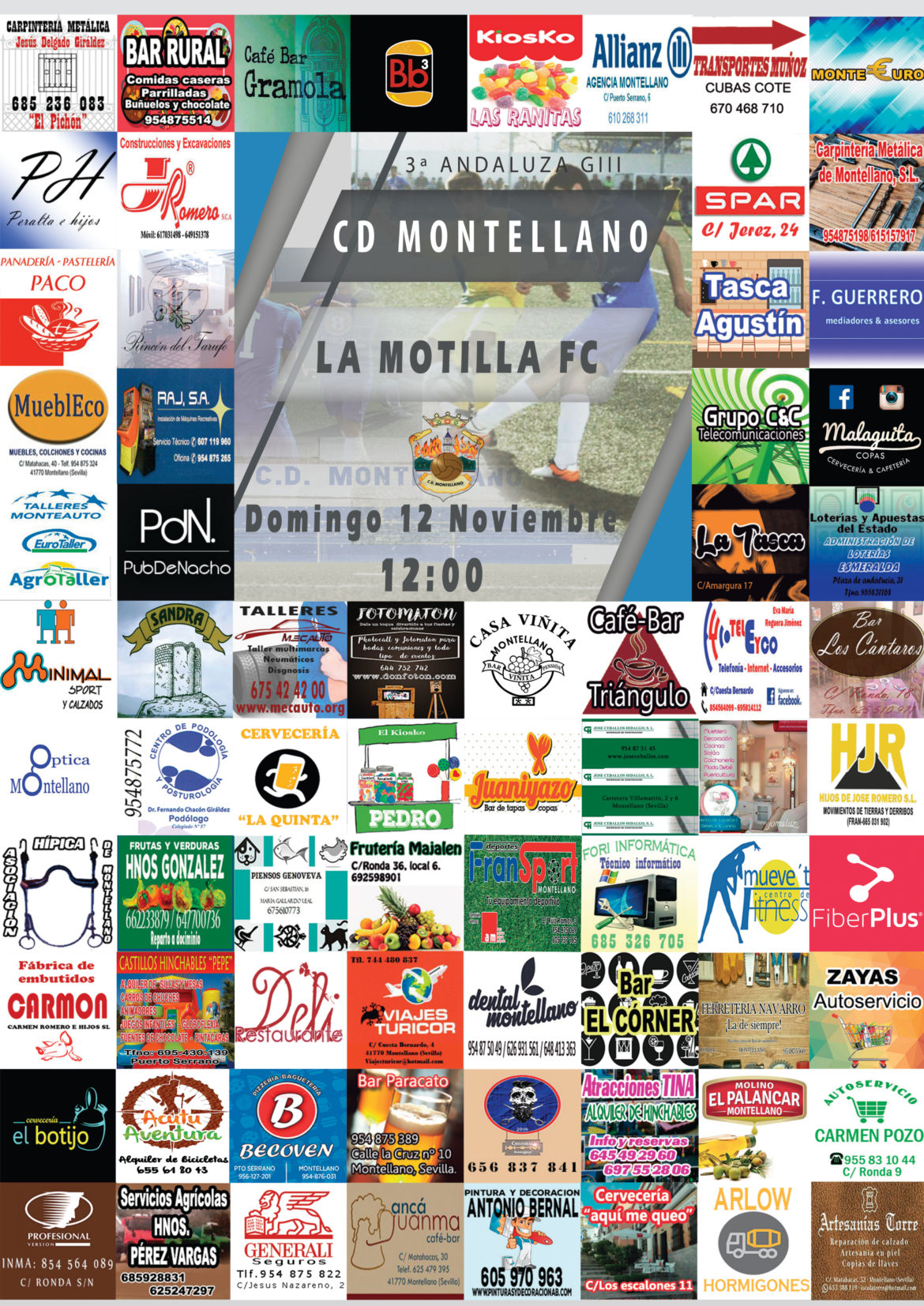 Cartel CD Montellano - La Motilla